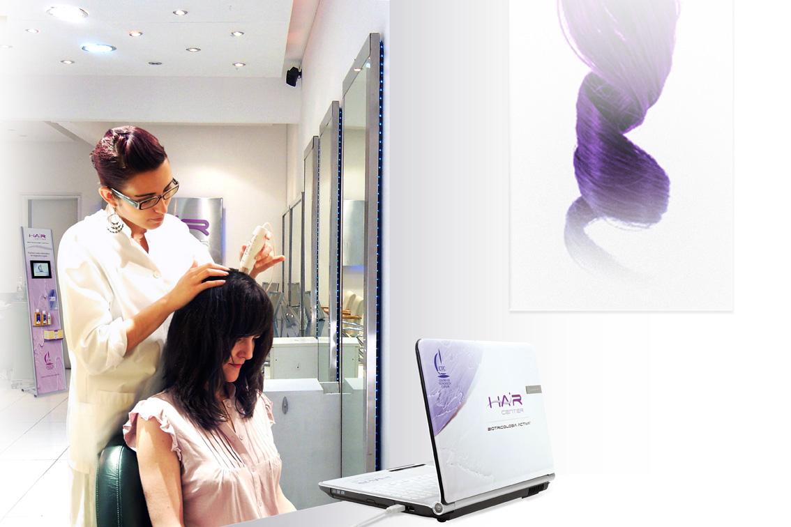 Realizamos un completo diagnóstico mediante Hair Center